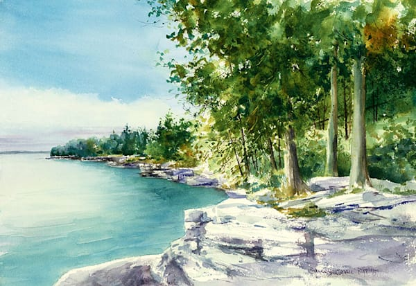 South Cave Point fine art print by Stacey Small Rupp.