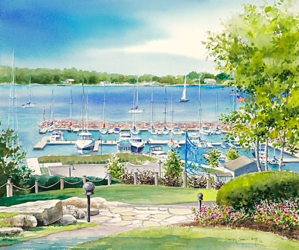 Egg Harbor Marina fine art print by Stacey Small Rupp.