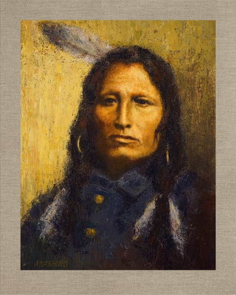 Jumping Thunder, Igmu Yanktons, Native Americans, American Indians, Portraits, Oil Paintings, Mark Kashino