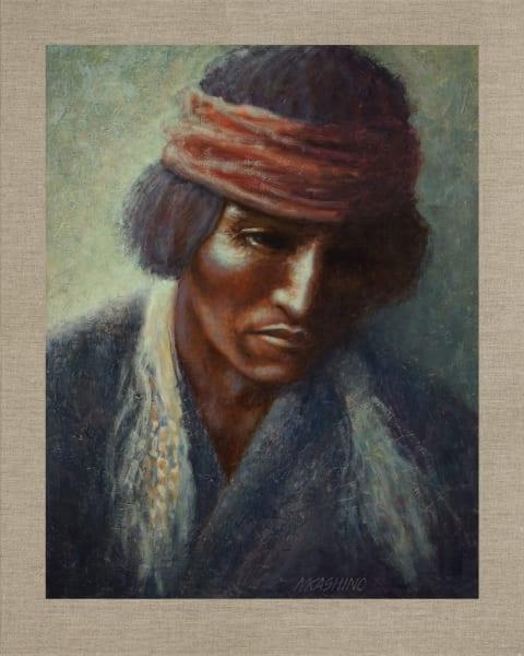 Medicine Man Navajo, Native Americans, American Indians, Portraits, Oil Paintings, Mark Kashino