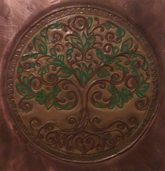 Tree of Life Mandala Repoussé. Copper Wall Décor Artistry by Adria