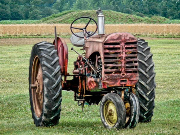 Antique Gas Farm Ranch Tractor Ready To Work The Field fleblanc