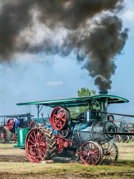 Keck Gonnerman Steam Powered Traction Engine Smoke In The Belt fleblanc