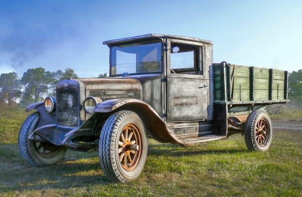 Antique International Truck With Wooden Wheels Runs Drives fleblanc