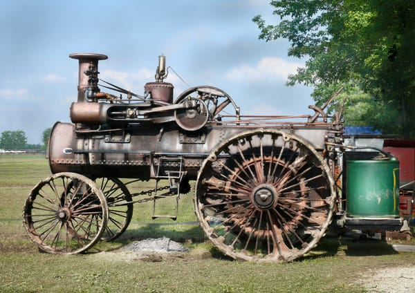 Rumely Steam Tractor In Working Clothes at Darke County Show fleblanc