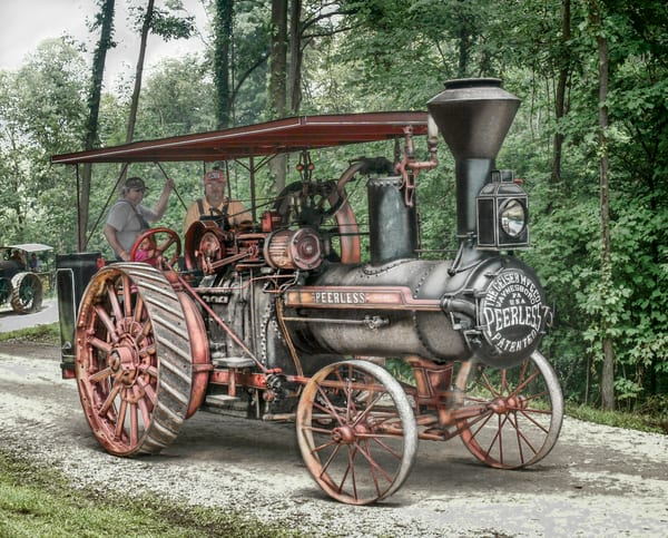 Geiser Peerless Reeves Steam Traction Engine Runs and Drives fleblanc