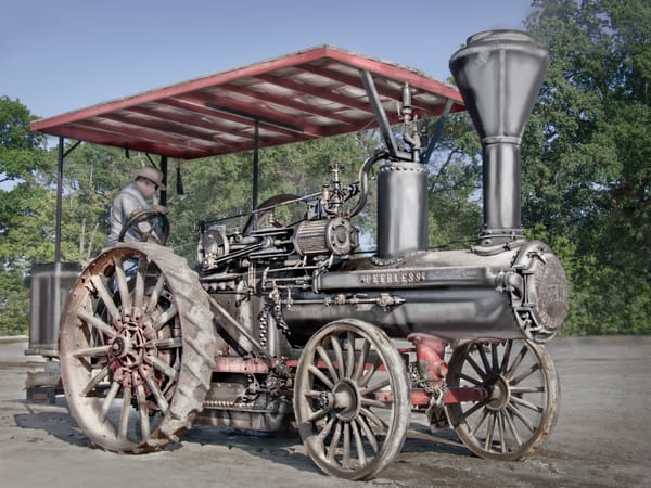 Wood Wheeled Restored Geiser Peerless Steam Traction Engine fleblanc