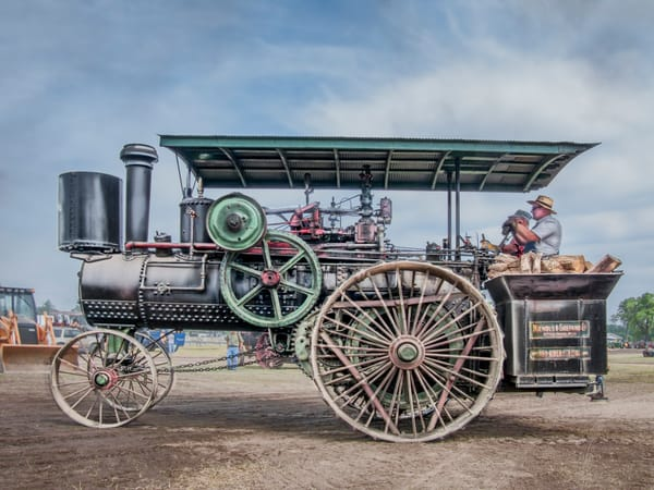 Steam Tractor, Vintage Farm Art Photographs, Hundreds Available fleblanc
