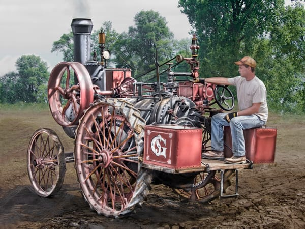 Fantastic Restored Gaar Scott Scale Steam Powered Tractor fleblanc