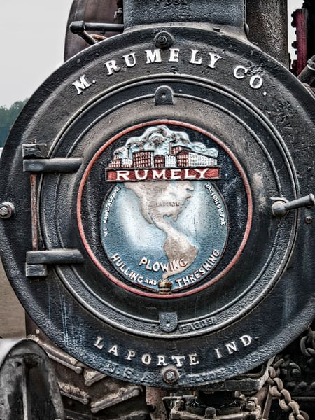 Rumely Steam Powered Traction Engine Emblem Boiler Door fleblanc