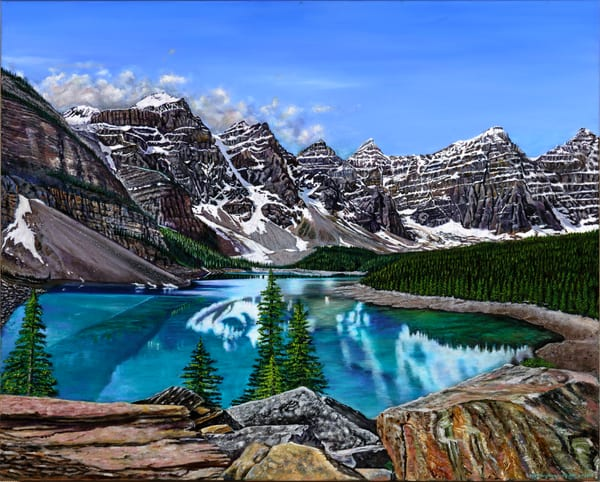 Moraine Lake Art | Vasquez Art
