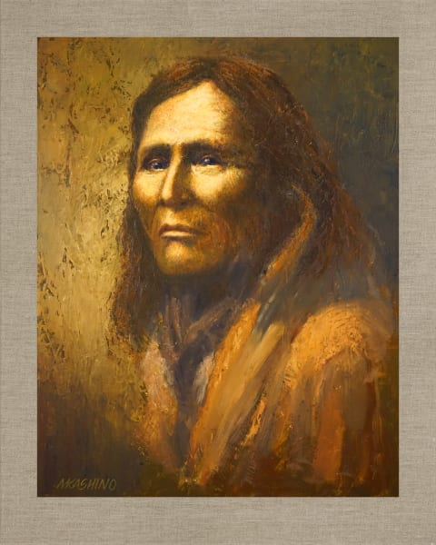 Alchise Navajo, Native Americans, American Indians, Portraits, Oil Paintings, Mark Kashino