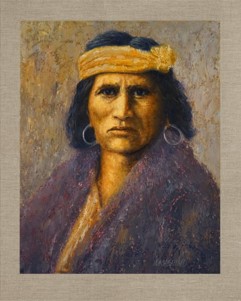 Hopi Indian, Native Americans, American Indians, Portraits, Oil Paintings, Mark Kashino