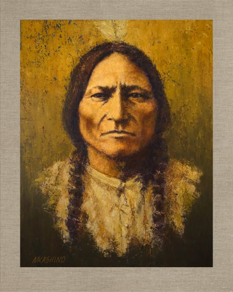 Sitting Bull Hunkpapa Lakota, Native Americans, American Indians, Portraits, Oil Paintings, Mark Kashino