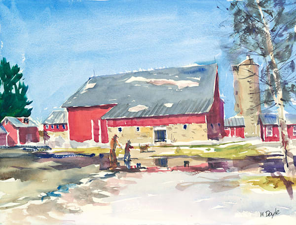 Early Spring Farm fine art print by Bill Doyle.