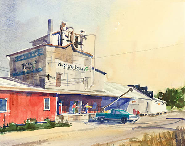 Gillett Feed Mill fine art print by Bill Doyle.