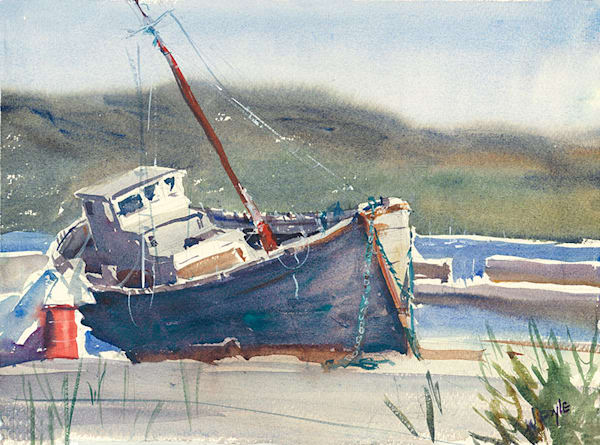 Irish Fishing Boat fine art print by Bill Doyle.