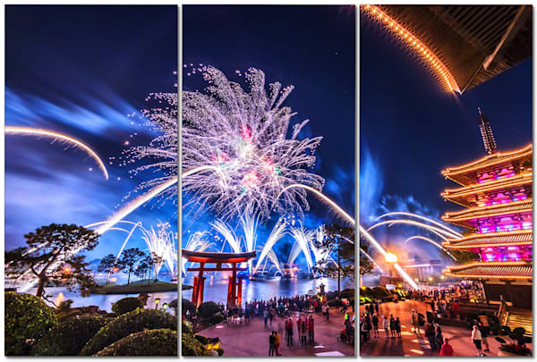 Epcot Fireworks Spectacular 6 - Disney Art | William Drew