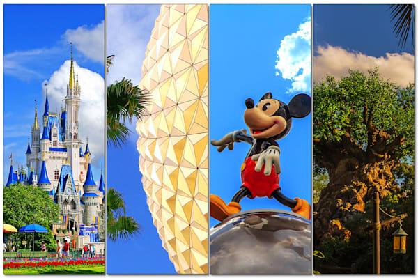 4-Piece Disney Canvas Wall Art - Icons | William Drew