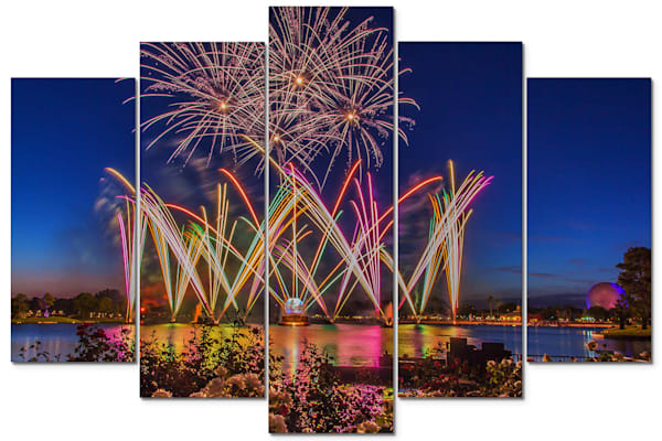 Epcot Night - Disney Panel Art | William Drew Photography