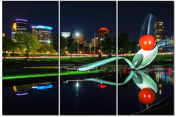 3-Piece Acrylic Art - Cherry Reflection | William Drew Photography