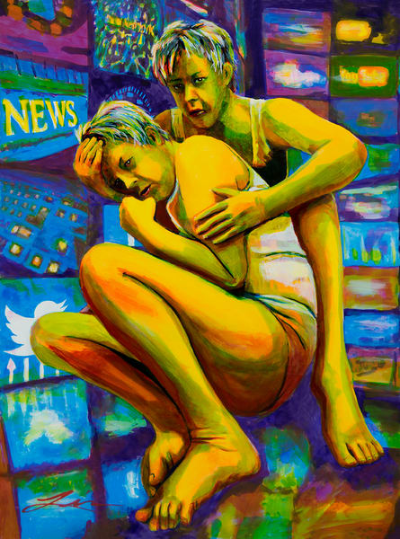 Post Dramatic Stress Disorder? by Michelle Leivan | Kansas Art Gallery