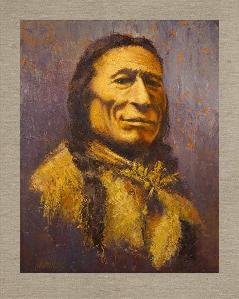 Chief Iron Tail, Native Americans, American Indians, Portraits, Oil Paintings, Mark Kashino