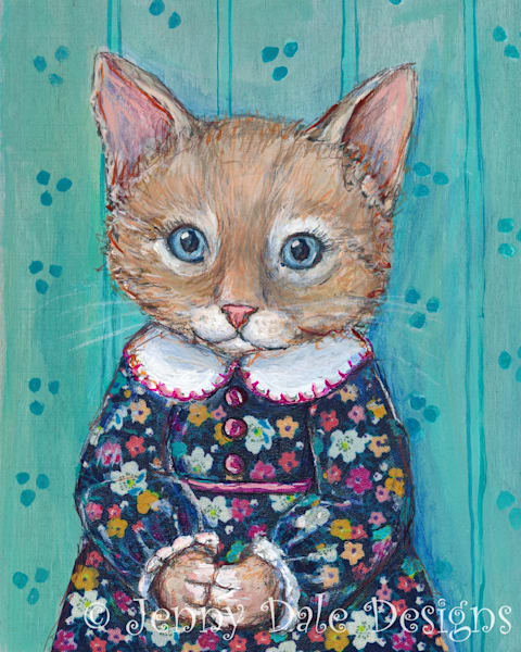 Jenny Kitty in Vintage floral dress