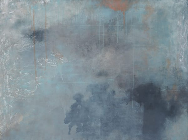 Toward Within - Blue Wall Art - Modern Abstract Paintings