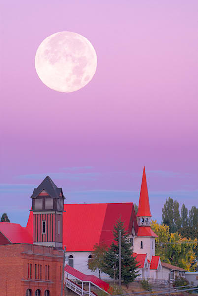 Church And Moon Art | Nelson Fine Art Printing