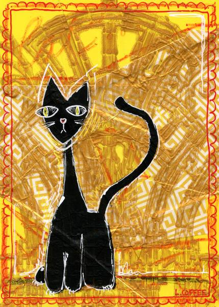 Cat Nouveau Art | Laura Coffee