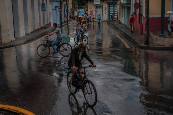 Cuba Bikers In The Rain