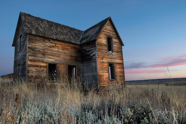 Abandoned House at Sunset in Idaho| Barb Gonzalez Photography