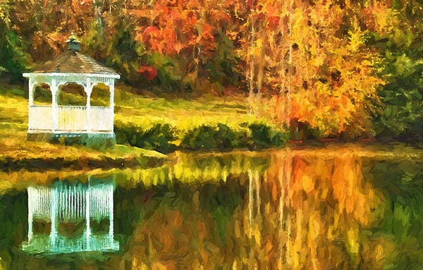 """Gazebo on the Lake"""