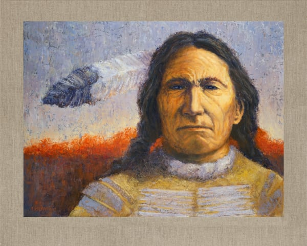 Red Cloud Sioux, Native Americans, American Indians, Portraits, Oil Paintings, Mark Kashino