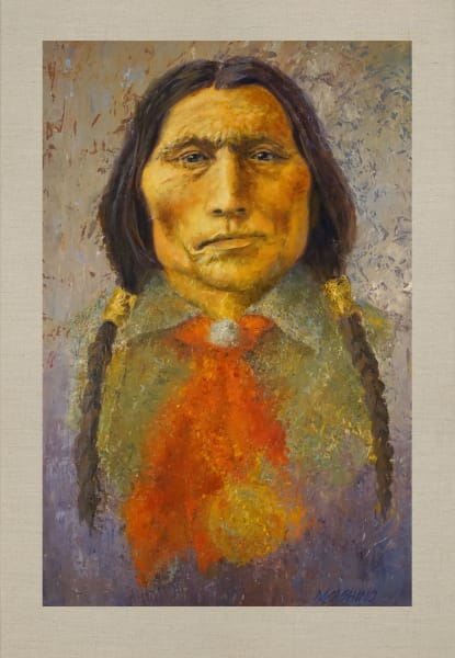 Wolf Robe, Native Americans, American Indians, Portraits, Oil Paintings, Mark Kashino