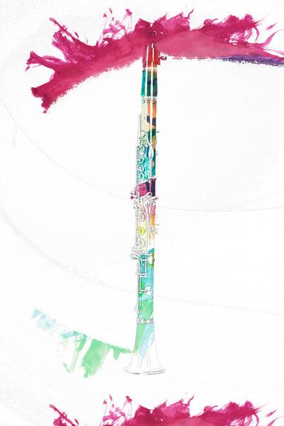 Music Art Clarinet Painting 9001.305