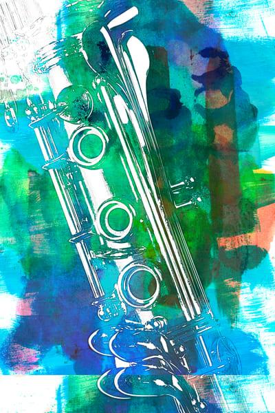 Clarinet Painting Music Instrument 9001.302