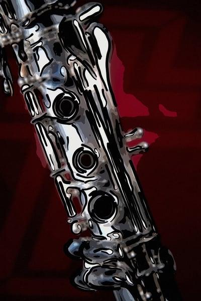 Art P{rints Clarinet Painting 9001.307