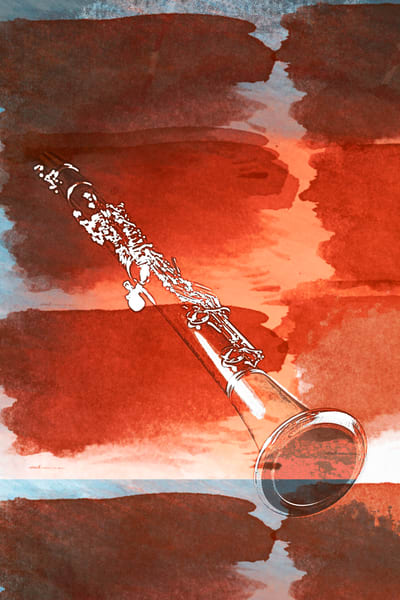 Original Art Clarinet Painting 9001.309