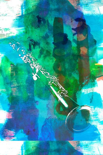 Clarinet Painting Original Art 9001.308