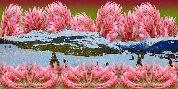 Farewell at Molas photograph of Molas Pass reimagined as digital art for sale