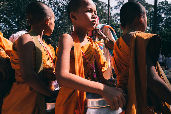 3 young monks