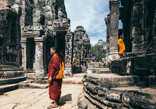 Angkor Thom & monks