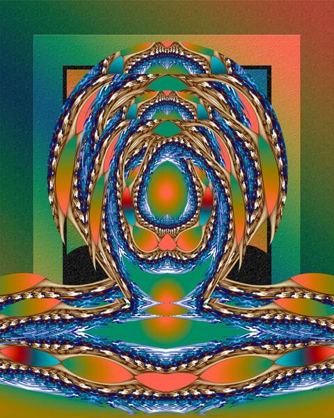 Locust Evolution print of photograph transformed digital art for sale by Maureen Wilks