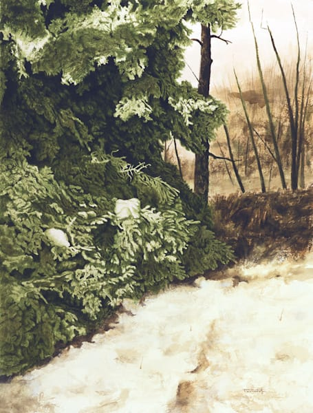 Raymond Wattenhofer Art Original Painting Laden