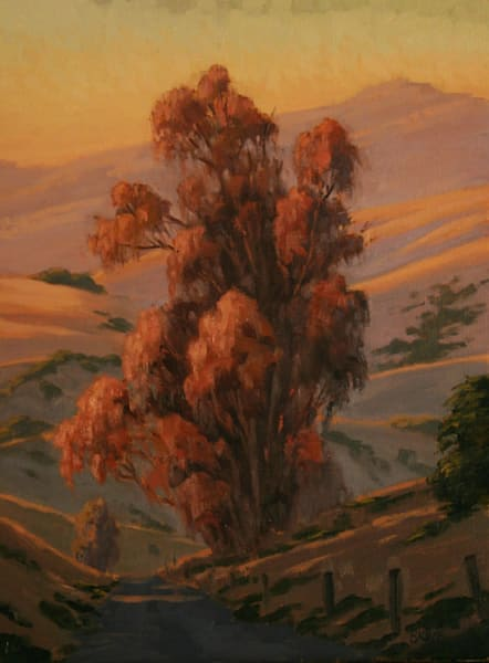 Eucalyptus California landscape oil painting