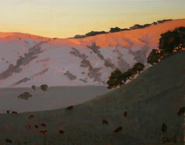 West Marin County landscape oil painting