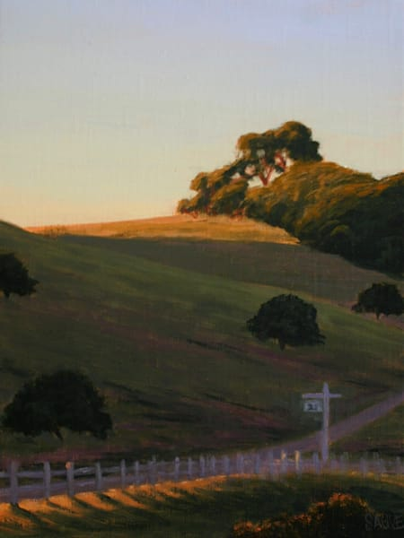 West Marin Landscape Painting in oil