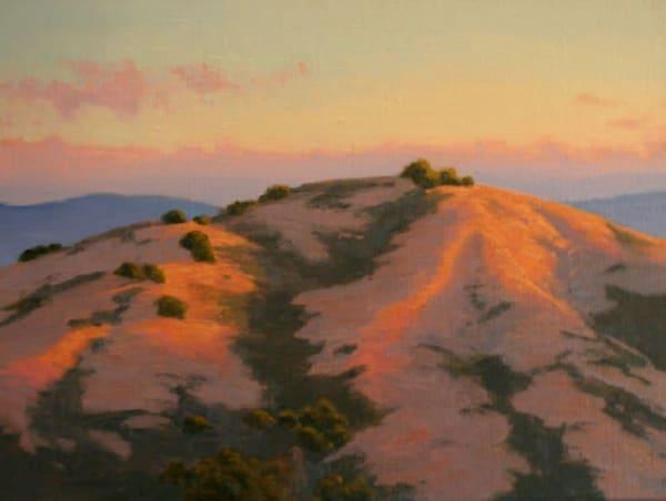 California golden hills landscape in oils